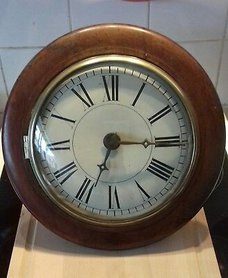 Antique (Postmans) Wall Alarm Clock For Spares Or Repair