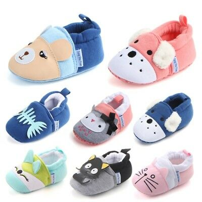Baby Boy Girl Socks Anti Slip Newborn Animal Cartoon Shoes Slippers 3-12M Cute