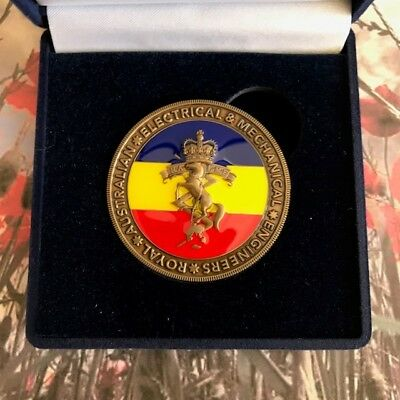 Challenge Coin - Royal Australian Electrical and Mechanical Engineers - RAEME