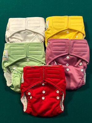 Adjustable Reusable Baby Washable Cloth Diaper Nappies - GIRLS LOT of 14