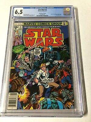Star Wars 2 Cgc 6.5 White Pages 35c 35 Cent Cents Variant Very Hard To Find