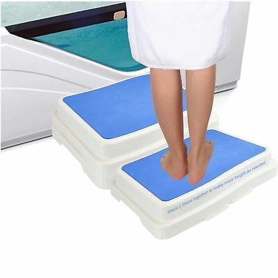 New Stack-Able Safety Bath Step Stool Disability Aid Non Slip Grip Shower Step