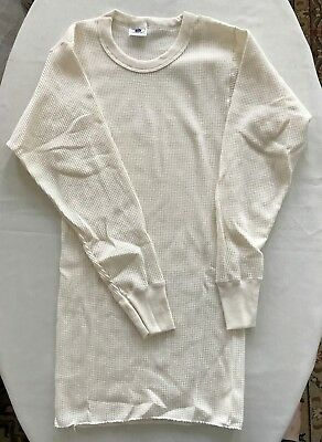 VINTAGE 80s HANDTEX Dead Stock Thermal Shirt Long Johns Large 50/50 Made In USA