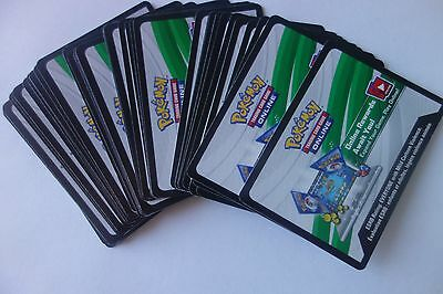 POKEMON, Sun and Moon, ON LINE CODES, NOT PLAYED, 36 CODES, By Email Only