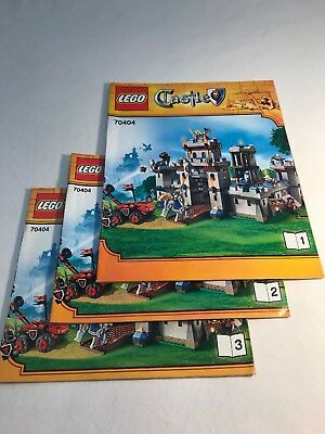 3 Lego Instruction Books Only Lord Of The Rings 9470 9469 79005
