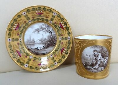 Stunning Early 19th Century Paris Sevres Porcelain Cabinet Cup & Saucer