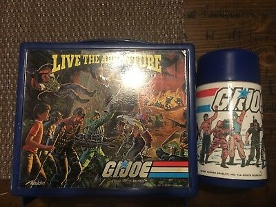 aladdin 1986 G.I. joe lunch box complete with thermos, G.i joe a real American