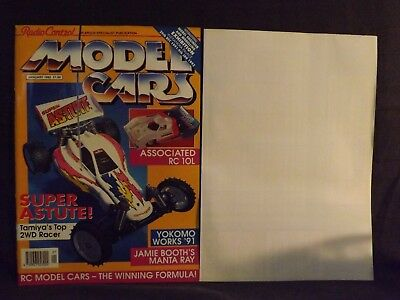 Radio Control Model Cars Magazine January 1992. Tamiya Super Astute.