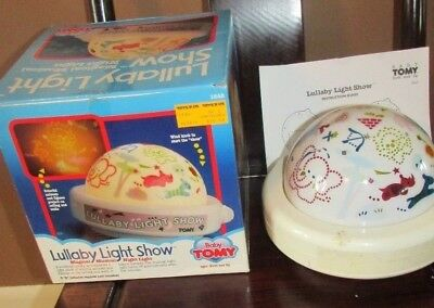 Vintage Tomy Magical Musical Lullaby Light Show Infant Baby w/ Original Box
