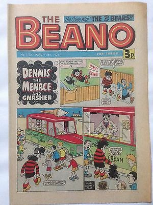 DC Thompson THE BEANO Comic. Issue 1704 March 15th 1975 **Free UK Postage**