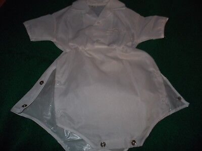 VTGPee Wee Togs Diaper Set Plastic Cover Lined Christening Outfit 18 months