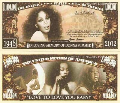 Donna Summer In Loving Memory of Million Dollar Bills x 4 American Singer Disco