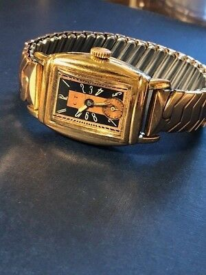 Cool Vintage Art Deco Watch.  Very Unique.  Very Nice.  Just Serviced.
