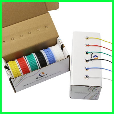 30/28/26/24/22/20/18awg 6 colors CBAZY Hook up Wire Kit Flexible Silicone rubber