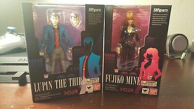 Bandai SH Figuarts Lupin The Third Authentic Lupin Fujiko Mine 2 Pack New