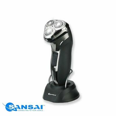 Sansai Rechargeable Cordless Washable 3 Head Shaver/Trimmer Self Sharpening AU