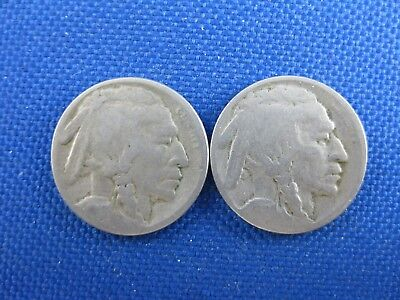 2 Pc U.s. Buffalo Nickel Coin Lot 1916 S 1926 S