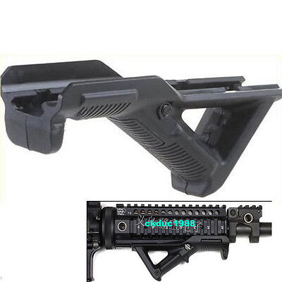 """Hunting Angled Foregrip 4.75"""" Front Hand Guard Mount fit Picatinny Weaver Rail"""