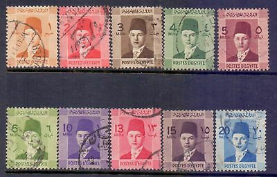 Egypt  1937/44  King Farouk, used.