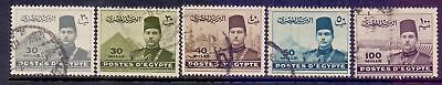 Egypt  1939/46  King Farouk, used.