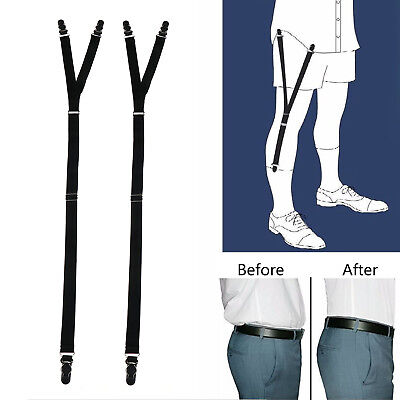 1Pair Military Shirt Stays Unifrom Sock Garter Suspender Y Style Belt Holderers