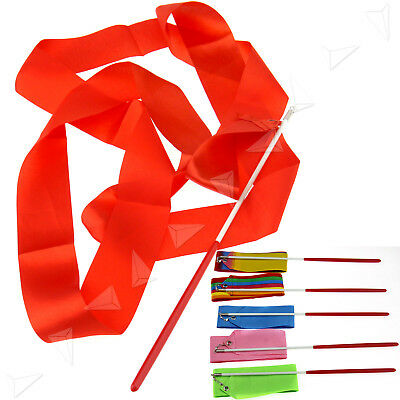 6 x 4M Gym Dance Ribbon Mix Color Rhythmic Art Gymnastic Streamer Twirling Stick