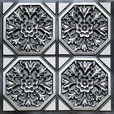 # 108 (Lot of 5) PVC Faux Tin Decorative Ceiling Tile Panels (Glue-Up Only)