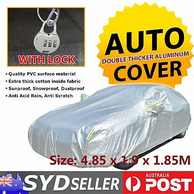 Aluminum Waterproof Double Thicker Car Cover UV Rain Resistant 4WD 4x4 Protector
