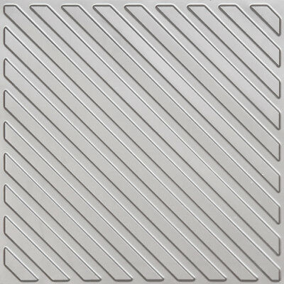 # 241 (Lot of 5)  PVC Faux Tin Decorative Ceiling Tile Panels Glue-Up / Grid