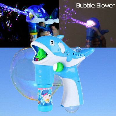 Children's fun automatic with light music dolphin blowing Bubble Blower FT