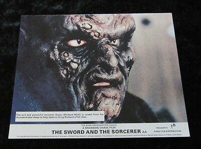 THE SWORD AND THE SORCERER original lobby card #1 - mini UK card