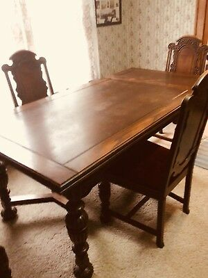 Antique Oak Dining table & Chairs