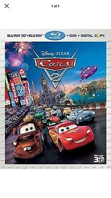 Cars 2 Disney Pixar 3D Blu-ray/DVD, 2011, 5-Disc Set  Children Movie New Sealed