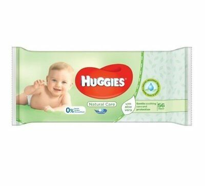 Huggies Natural Care w/ Aloe Vera Unscented Baby Wipes Soft Pack 56 Count