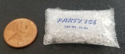 Dollhouse Miniature 10 Pound Bag of Party Ice - 1:12 Scale - Hudson River