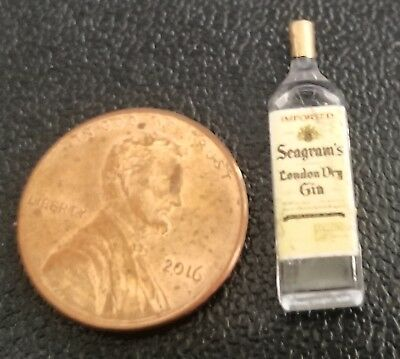 Dollhouse Miniature Bottle of Seagram's London Dry Gin 1:12 Scale - Hudson River