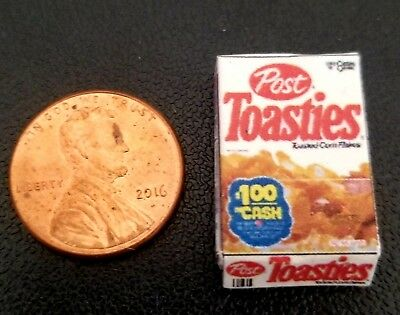 54054 Dollhouse Miniature Toasties /& Bran #54317//18 Grape Nuts Cereal Boxes
