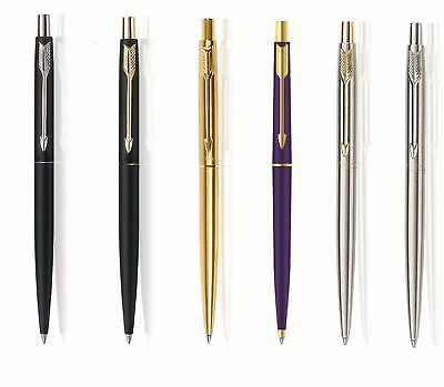 Parker Classic CT GT Chrome Gold Trim Ball Pen Blue Ink Engraving Personalised