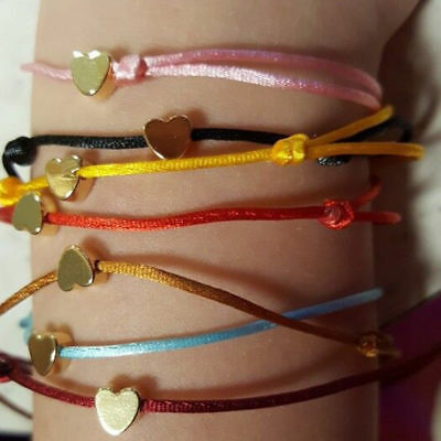 Adjustable Heart Bracelet String Lucky Multicolor Handmade Rope Chain Jewelry