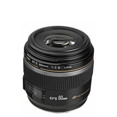 NEW Canon EF-S 60mm f2.8 Macro USM Lens For EOS 1 Year Warranty