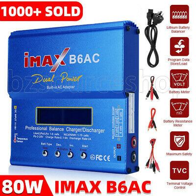 iMax B6AC 80W RC Lipo NiMh Digital Battery Balance Charger Discharger Control