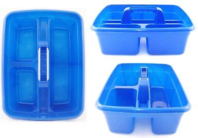 Deluxe Cleaner Carry All Tote Tray Handy Storage Tool Bottle Basket Caddy Blue