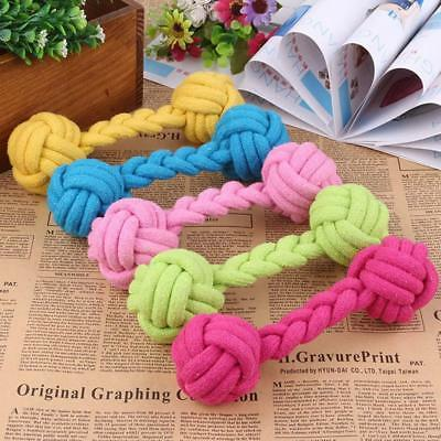 Cotton Rope Heavy Duty Dog Toys Training Balls Braided Dumbbell Pet Chew Stuffs