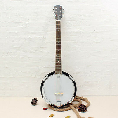 6-string Banjo Exquisite Pro Sapelli Notopleura Wood Alloy Musical Instrument