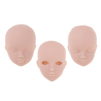 Ball-Jointed Doll Girl Head for 1/6 BJD Doll Body Parts DIY High Quality