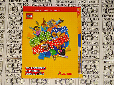 Album Collector Officiel Lego : Cree Ton Monde Auchan 2018
