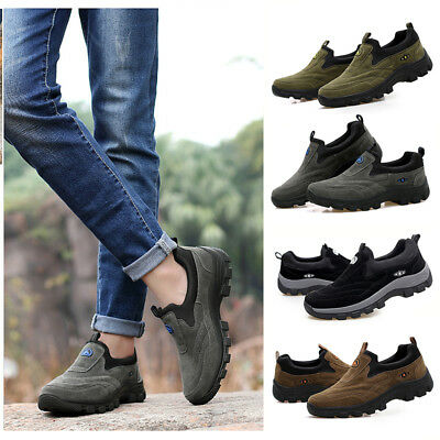 Men Outdoor Comfy Trainers Breathable Fitness Sports Hiking Slip On Shoes
