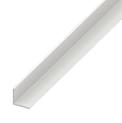 White Plastic PVC Equal Angle Corner Edging Protection Profile Worktop Trim