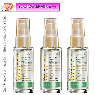 3 x Avon Advance Techniques Daily Shine Dry Ends Serum // Dry Damaged Hair