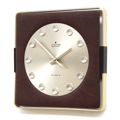WEST GERMAN1970s JUNGHANS Midcentury Factory Retro Vintage Industrial Clock
